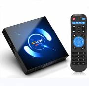 QPLOVE Android 10.0 TV Box 4 Go RAM 32 Go ROM H616 Quad Core / H.265 / LAN 100 / WiFi 2.4 + 5.0 GHz / BT 5.0 / H.265 / HDR Support 3D 6K Full HD Smart