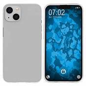 PhoneNatic Coque en Silicone Compatible avec Apple iPhone 13 - Transparent Crystal Clear - Cover Cubierta Cover