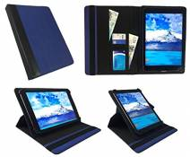 """Sweet Tech Thomson Teo 10 10.1"""" Tablet Blue with Black Trim Universal 360 Degree Rotating PU Leather Wallet Case Cover Folio (9-10 inch) by"""