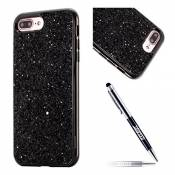 JAWSEU Coque iPhone 6,Etui iPhone 6S Silicone TPU Glitter Cristal, Placage Brillant Bling Paillette Ultra Mince Flexible Silicone Souple Strass Case C