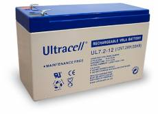 Wentronic Batterie au plomb Ultracell 12 V 7,2 Ah Faston 187-4,8mm (Import Allemagne)