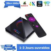 Android tv box android 10 H96MAX Smart TV BOX Dual Wif i BT 2Go 16Go H616 6K Netflix Google Store Boîte multimédia box Android