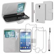 EbestStar - Coque Compatible avec Samsung S4 Mini Galaxy GT-i9190, i9192, i9195 Etui PU Cuir Housse Portefeuille Porte-Cartes Support +Mini Stylet +3