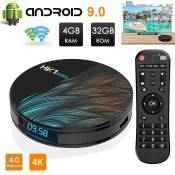 Android TV Box, HK1 Max RK3318 Quad-Core Android 9.0 TV Box 4GB +32GB Support 2.4Ghz-5.0 Ghz WiFi Bluetooth 4.0, 4K HDMI DLNA