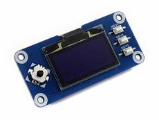 Waveshare 1.3inch OLED Display Hat 128x64 Pixels SPI/I2C Interface Embedded Controller Direct-pluggable Onto Raspberry Pi Supports Jetson Nano