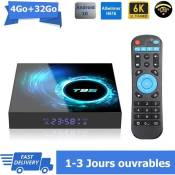 Android tv box tv android 10 T95 Smart TV BOX Wifi BT 4G 32Go H616 6K Netflix Google Store Boîte multimédia box Android