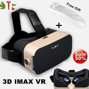 3D VR Goggles with Remote Controller, TSANGLIGHT FOV 110° VR Headset Glasses for iOS Android iPhone 11 Pro X 8 7 Plus Galaxy S9 S8 S7 S6 & More 4.0-6.
