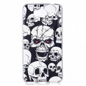 Hpory Case Cover Huawei Y5 2017 Coque Silicone Fluorescent Lumineux Housse Etui Ultra Mince Souple Beau Housse de Protection TPU Silicone Bumper Case,