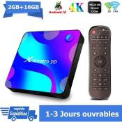 Android tv box android 10 X88PRO10 Smart TV BOX Dual Wifi BT 2G 16Go RK3318 4K Netflix Google Store Boîte multimédia box Android
