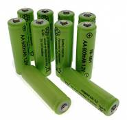 Trango NI-MH TG1000-AA Piles rechargeables, type AA, 600 mAh 1,2 V, pour les lampes solaires