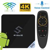 VIDEN S95 Smart TV Box Android 8.1 Amlogic S905X2 Quad-Core 4K Ultra HD H.265 Support Dual WiFi 2,4 / 5,8 G Bluetooth 4.0 / USB 3.0 Android Player ave