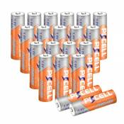 Nickel Zinc Batterie AA 1,6 V 2500 MWH NiZn Rechargeable Piles(20 pièces, AA)