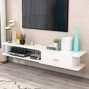 Creative TV Cabinet Modern Minimalist Floating Shelf Living Room Wall Mounted TV Stand with Drawer