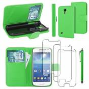 EbestStar - Coque Compatible avec Samsung S4 Mini Galaxy GT-i9190, i9192, i9195 Etui PU Cuir Housse Portefeuille Porte-Cartes Support +Stylet +3 Films