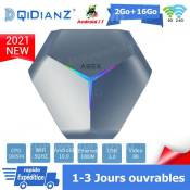 Android tv box tv android 10 A95XF4 Smart TV BOX Dual Wifi BT 2Go 16Go S905X4 8K Netflix Google Store Boîte multimédia box Android