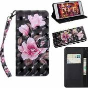 Coque Samsung Galaxy S9, 3D Cartoon Leather Cuir Rabat Wallet Case Housse Cover pour Samsung Galaxy S9 [Daffodil Flower]