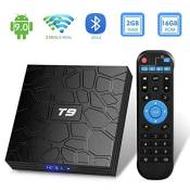 Android tv box t9 android 9 0 tv box 2 go ram 16 go rom rk3318 quad core support 2 4 5 0 ghz wifi bt4 0 4k 3d hdmi dlna smart tv box