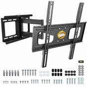 """RICOO S2544 Support Murale TV Orientable Inclinable Universel 32-60"""" (81-152cm) Fixation Mural Télévision LED/LCD/Incurvée VESA 200x200-400x400"""
