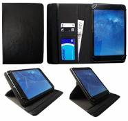Sweet Tech Alcatel One Touch Pop 10 / OneTouch Pixi 3 10 inch Tablet Black Universal 360 Degree Rotating PU Leather Wallet Case Cover Folio (9-10 inch