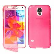 ebestStar - Coque Compatible avec Samsung S5 G900F, Galaxy S5 New G903F Neo Etui Housse Silicone Gel Portefeuille, Rose [Appareil: 142 x 72.5 x 8.1mm, 5.1'']