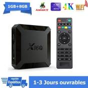 Android tv box android 10 X96Q Smart TV BOX Dual Wif i BT 1Go 8Go H313 6K Netflix Google Store Boîte multimédia box Android