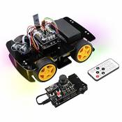 Freenove 4WD Car Kit with RF Remote (Compatible with Arduino IDE), Line Tracking, Obstacle Avoidance, Ultrasonic Sensor, Bluetooth IR Wireless Remote