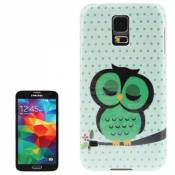 Smartprotectors./Coque pour Samsung Galaxy S5 i9600/S 5/Süsse Hibou/Sweet slepping Owl/Owl Pattern Plastic Case For Samsung Galaxy S5/i9600