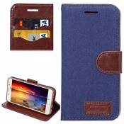ALLSHOPSTOCK (#52) for Compatible with : Galaxy A5(2016) / A510 Jeans Horizontal Flip Leather Case with Holder & Card Slots(Dark Blue)