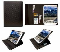 Sweet Tech Hanbaili 9.7 inch Tablet Carbon Black Universal 360 Degree Rotating PU Leather Wallet Case Cover Folio (9-10 inch) by