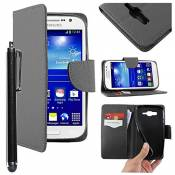 EbestStar - Coque Compatible avec Samsung Grand Plus Galaxy GT-i9060I, Grand Lite Etui PU Cuir Housse Portefeuille Porte-Cartes Support Stand + Stylet
